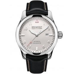 Bremont SOLO POLISHED White Dial Strap Watch SOLO/PW