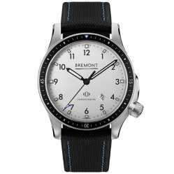 Bremont BOEING MODEL 1 Stainless Steel White Dial Strap Watch BB1-SS/WH