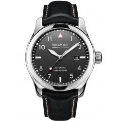 Bremont SOLO POLISHED Black Dial Strap Watch SOLO/PB