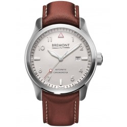 Bremont SOLO White and Silver Dial Strap Watch SOLO/WH/SI