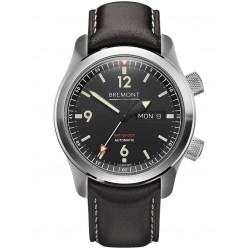 Bremont U-2 Stainless Steel Black Strap Watch U-2/SS