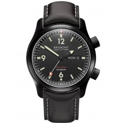 Bremont U-2 Stainless Steel and DLC Black Strap Watch U-2/DLC