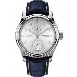 Bremont SUPERSONIC 18ct White Gold Blue Leather Strap Watch SUPERSONIC WG