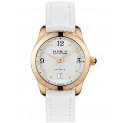 Bremont SOLO-32 AJ 18ct Rose Gold White Strap Watch SOLO-32-AJ/WH-RG