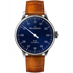MeisterSinger Mens No. 03 Automatic Leather Strap Watch AM908