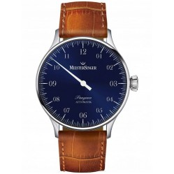MeisterSinger Mens Pangaea Automatic Leather Strap Watch PM908