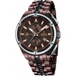 Festina Mens Brown Chronobike Watch F16883/1