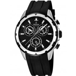 Festina Mens Black Chronograph Watch F16838/2