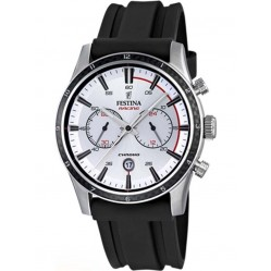 Festina Mens White Chronograph Watch F16874/1