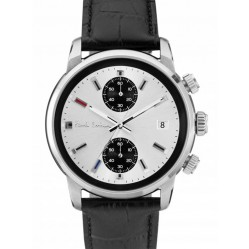 Paul Smith Mens Block Chronograph Black Strap Watch P10032