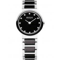 Bering Ladies Black Ceramic Bracelet Watch 10725-742