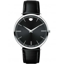 Movado Mens Ultra Slim Black Watch 0607086