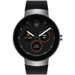Movado Connect Silver Black Smartwatch 3660016