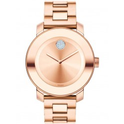 Movado Ladies Bold Rose Gold Watch 3600086