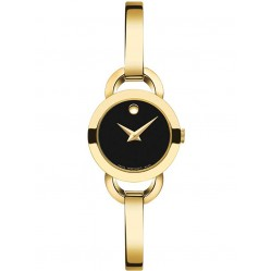 Movado Ladies Rondiro Black Watch 0606888
