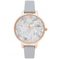 Olivia Burton Terrazzo Florals Rose Gold and Eco Light Grey Strap Watch OB16TZ01