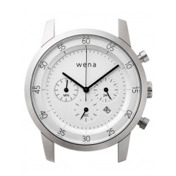 Wena Wrist Quartz Chronograph White Watch Head WNWHWC01BW.AE