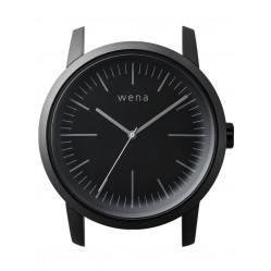 Wena Wrist Quartz Three Hands Black Watch Head WNWHWT01BB.AE