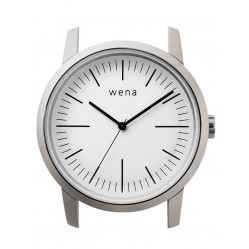 Wena Wrist Quartz Three Hands White Watch Head WNWHWT01BW.AE