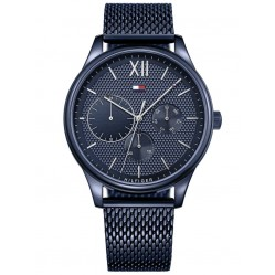 Tommy Hilfiger Damon Blue Chronograph Dial Mesh Strap Watch 1791421