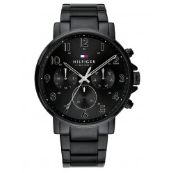 Tommy Hilfiger Daniel Black Chronograph Dial Bracelet Watch 1710383