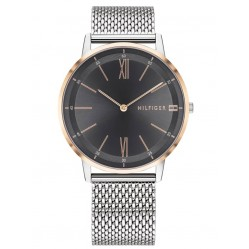 Tommy Hilfiger Cooper Rose Gold Plated Two Tone Mesh Strap Watch 1791512