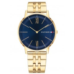 Tommy Hilfiger Cooper Gold Plated Blue Dial Bracelet Watch 1791513