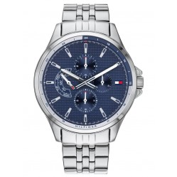 Tommy Hilfiger Shawn Stainless Steel Blue Chronograph Dial Bracelet Watch 1791612