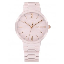 Tommy Hilfiger Avery Blush Pink Ceramic Bracelet Watch 1781957