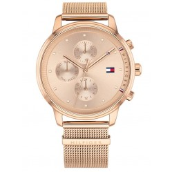 Tommy Hilfiger Blake Rose Gold Plated Chronograph Dial Mesh Strap Watch 1781907