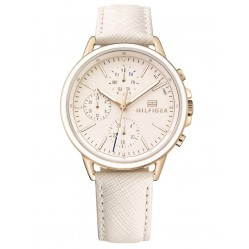 Tommy Hilfiger Carly Rose Gold Plated Chronograph Dial Blush Leather Strap Watch 1781789