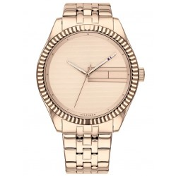 Tommy Hilfiger Lee Rose Gold Plated Plain Rose Dial Bracelet Watch 1782082