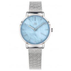 Tommy Hilfiger Lily Stainless Steel Blue  Mother Of Pearl Dial Mesh Strap Watch 1782041