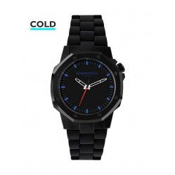 KAMAWATCH Castell Ocean Black and Blue Camo Plastic Bracelet Watch KWP19