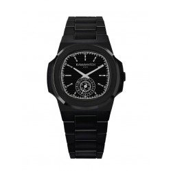KAMAWATCH Limited Edition Fix Carrera Black Plastic Bracelet Watch KWPF28