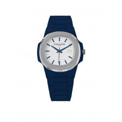 KAMAWATCH Limited Edition Fix Navy Blue Plastic Bracelet Watch KWPF32