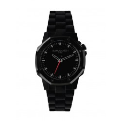 KAMAWATCH Limited Edition Fix Space Black Plastic Bracelet Watch KWPF31