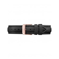ROSEFIELD Black Leather Tribeca Watch Strap TSBLR-S129