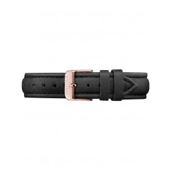 ROSEFIELD Black Leather Bowery Watch Strap SBLRC-S100