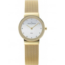 Skagen Freja Ladies Gold Plated Mesh Watch 358SGGD