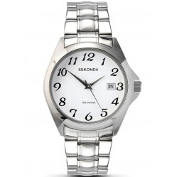 Sekonda Mens White Dial Watch 3952