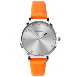 Sekonda Ladies Neon Orange Strap Watch 40011