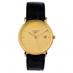 Pre-Owned Longines Mens 18ct Gold Le Grande Classic Watch 4118008