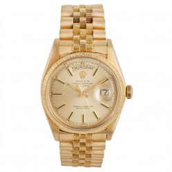 Pre-Owned Rolex Mens 18ct Yellow Gold Oyster Perpetual Day Date Watch 4118070