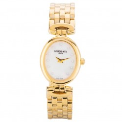 Pre-Owned Raymond Weil Ladies Gold Plated Watch 4118138