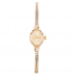 Pre-Owned Accurist Ladies 9ct Yellow Gold Mechanical Watch 4410036
