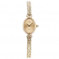 Pre-Owned Cyma Ladies 14ct Yellow Gold Quartz Watch 4410040