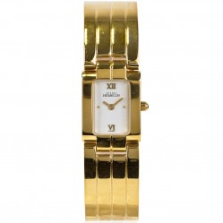 Pre-Owned Michel Herbelin Ladies Gold Tone Half Bangle Bracelet Watch 4181937