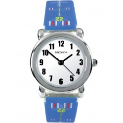 Sekonda Childrens Blue Plane Watch 4341