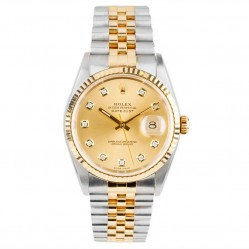 Pre-Owned Rolex Mens Oyster Perpetual Datejust Watch 16233-6705